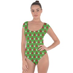 Christmas Tree Short Sleeve Leotard  by patternstudio
