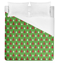 Christmas Tree Duvet Cover (queen Size) by patternstudio