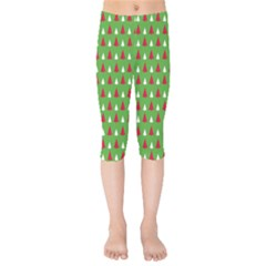 Christmas Tree Kids  Capri Leggings  by patternstudio