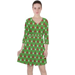 Christmas Tree Ruffle Dress