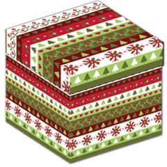 Christmas Spirit Pattern Storage Stool 12   by patternstudio