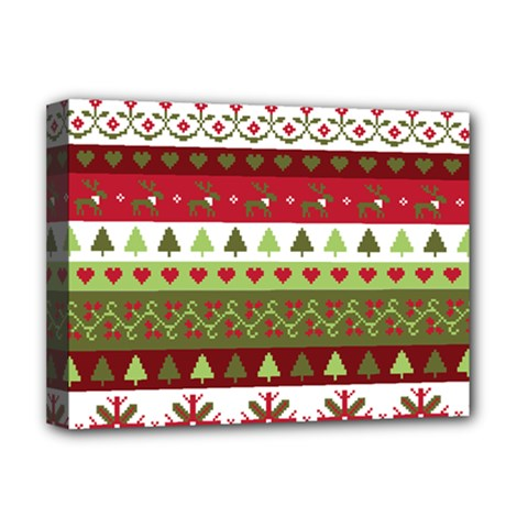Christmas Spirit Pattern Deluxe Canvas 16  X 12   by patternstudio