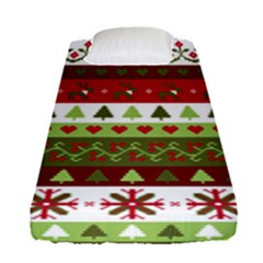 Christmas Spirit Pattern Fitted Sheet (single Size)