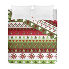 Christmas Spirit Pattern Duvet Cover Double Side (full/ Double Size) by patternstudio