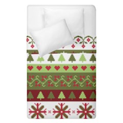 Christmas Spirit Pattern Duvet Cover Double Side (single Size) by patternstudio