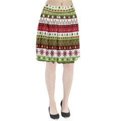 Christmas Spirit Pattern Pleated Skirt by patternstudio