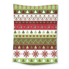 Christmas Spirit Pattern Medium Tapestry by patternstudio