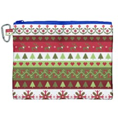 Christmas Spirit Pattern Canvas Cosmetic Bag (xxl) by patternstudio