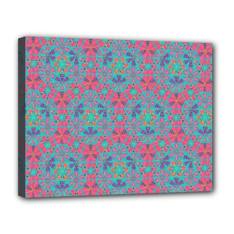 Bereket Pink Blue Canvas 14  X 11  by Cveti