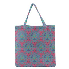 Bereket Pink Blue Grocery Tote Bag by Cveti