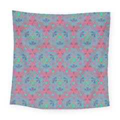 Bereket Pink Blue Square Tapestry (large) by Cveti