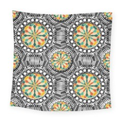 Beveled Geometric Pattern Square Tapestry (large) by linceazul