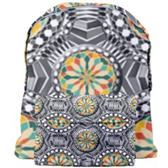 Beveled Geometric Pattern Giant Full Print Backpack by linceazul
