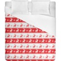 Knitted Red White Reindeers Duvet Cover (California King Size) View1