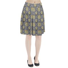 Beveled Geometric Pattern Pleated Skirt by linceazul