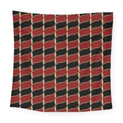 Leaves Red Black Square Tapestry (large) by Cveti