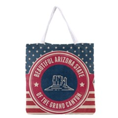 Retro Arizona Grand Canyon State Grocery Tote Bag by allthingseveryday