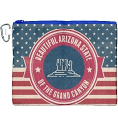 Retro Arizona Grand Canyon State Canvas Cosmetic Bag (xxxl) by allthingseveryday
