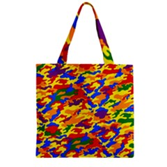Homouflage Gay Stealth Camouflage Zipper Grocery Tote Bag by PodArtist