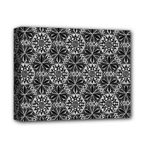 Crystals Pattern Black White Deluxe Canvas 14  X 11  by Cveti