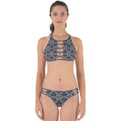 Crystals Pattern Black White Perfectly Cut Out Bikini Set by Cveti