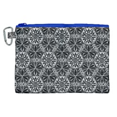 Crystals Pattern Black White Canvas Cosmetic Bag (xl)