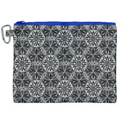 Crystals Pattern Black White Canvas Cosmetic Bag (xxl) by Cveti