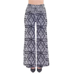 Kaleidoscope Black White Pattern Pants by Cveti