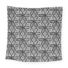 Kaleidoscope Black White Pattern Square Tapestry (large) by Cveti