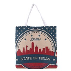 Retro Dallas Texas Skyline Grocery Tote Bag by allthingseveryday