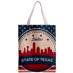 Retro Dallas Texas Skyline Zipper Classic Tote Bag by allthingseveryday