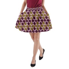 Rhomboids Pattern  A Line Pocket Skirt by Cveti