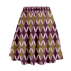 Rhomboids Pattern  High Waist Skirt by Cveti