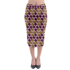 Rhomboids Pattern  Midi Pencil Skirt by Cveti