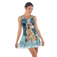 It s Winter And Christmas Time, Cute Kitten And Dogs Cotton Racerback Dress by FantasyWorld7