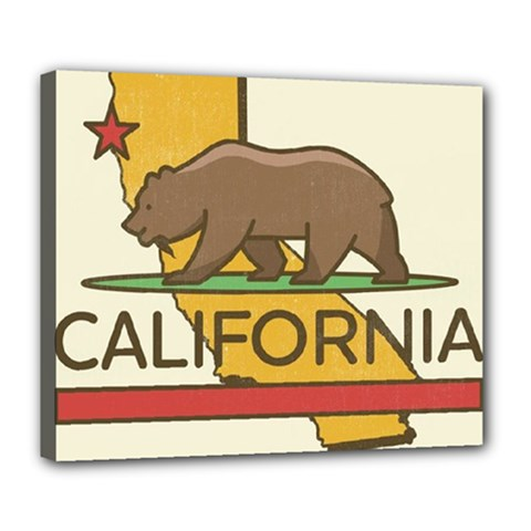 California Bear Deluxe Canvas 24  X 20   by allthingseveryday