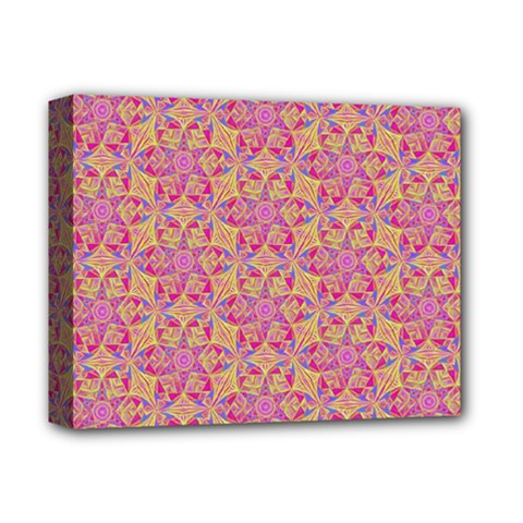 Kaledoscope Pattern  Deluxe Canvas 14  X 11  by Cveti