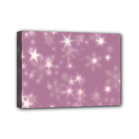 Blurry Stars Lilac Mini Canvas 7  X 5  by MoreColorsinLife