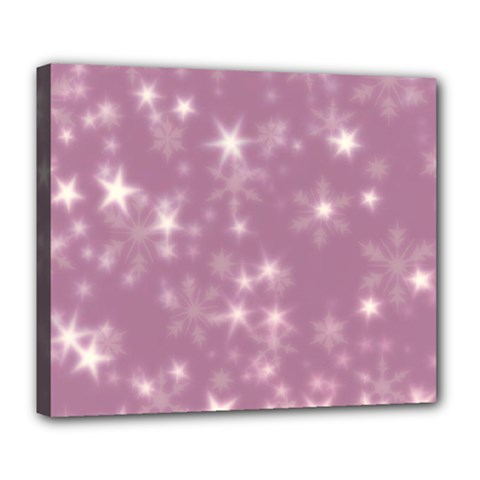 Blurry Stars Lilac Deluxe Canvas 24  X 20   by MoreColorsinLife