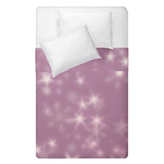 Blurry Stars Lilac Duvet Cover Double Side (single Size) by MoreColorsinLife