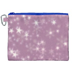Blurry Stars Lilac Canvas Cosmetic Bag (xxl) by MoreColorsinLife