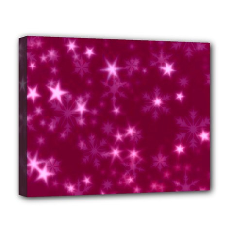 Blurry Stars Pink Deluxe Canvas 20  X 16   by MoreColorsinLife