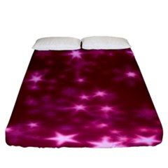 Blurry Stars Pink Fitted Sheet (king Size) by MoreColorsinLife