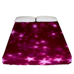 Blurry Stars Pink Fitted Sheet (california King Size) by MoreColorsinLife