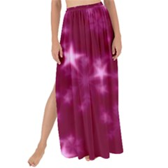 Blurry Stars Pink Maxi Chiffon Tie Up Sarong