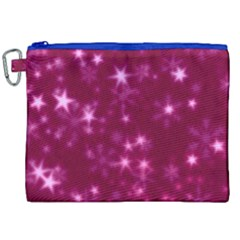 Blurry Stars Pink Canvas Cosmetic Bag (xxl)