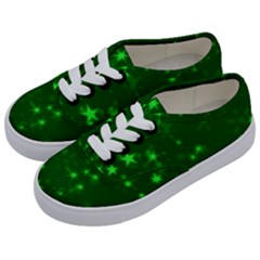 Blurry Stars Green Kids  Classic Low Top Sneakers by MoreColorsinLife