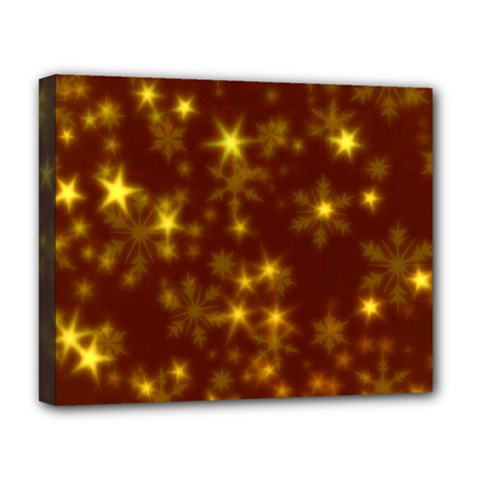 Blurry Stars Golden Deluxe Canvas 20  X 16   by MoreColorsinLife