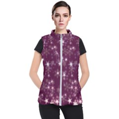 Blurry Stars Plum Women s Puffer Vest