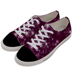 Blurry Stars Plum Women s Low Top Canvas Sneakers by MoreColorsinLife